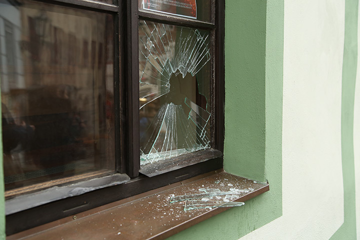 A2B Glass are able to board up broken windows while they are being repaired in Emerson Park.